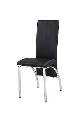 Faux Leather Foam Padded Dining Chairs Black Brown Cream Red