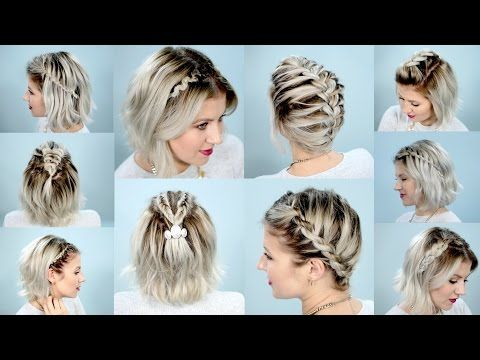 40 Effortlessly Stress Free Diy Hairstyles For Glamorous Short Hair Diy Amp Crafts Short Hair Tutorial Braided Hairstyles Easy Easy Braids