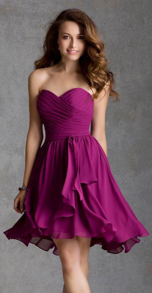 Berry bridesmaid dress | Wedding | Pinterest | Muy bonita, Bonitas y ...