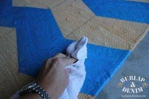 bleached chevron rug