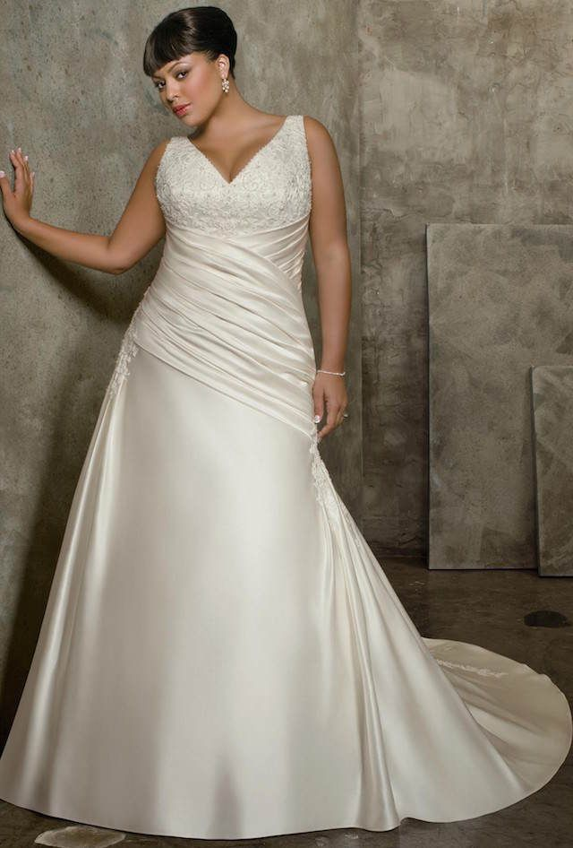 Estilos de vestidos de novia para gorditas