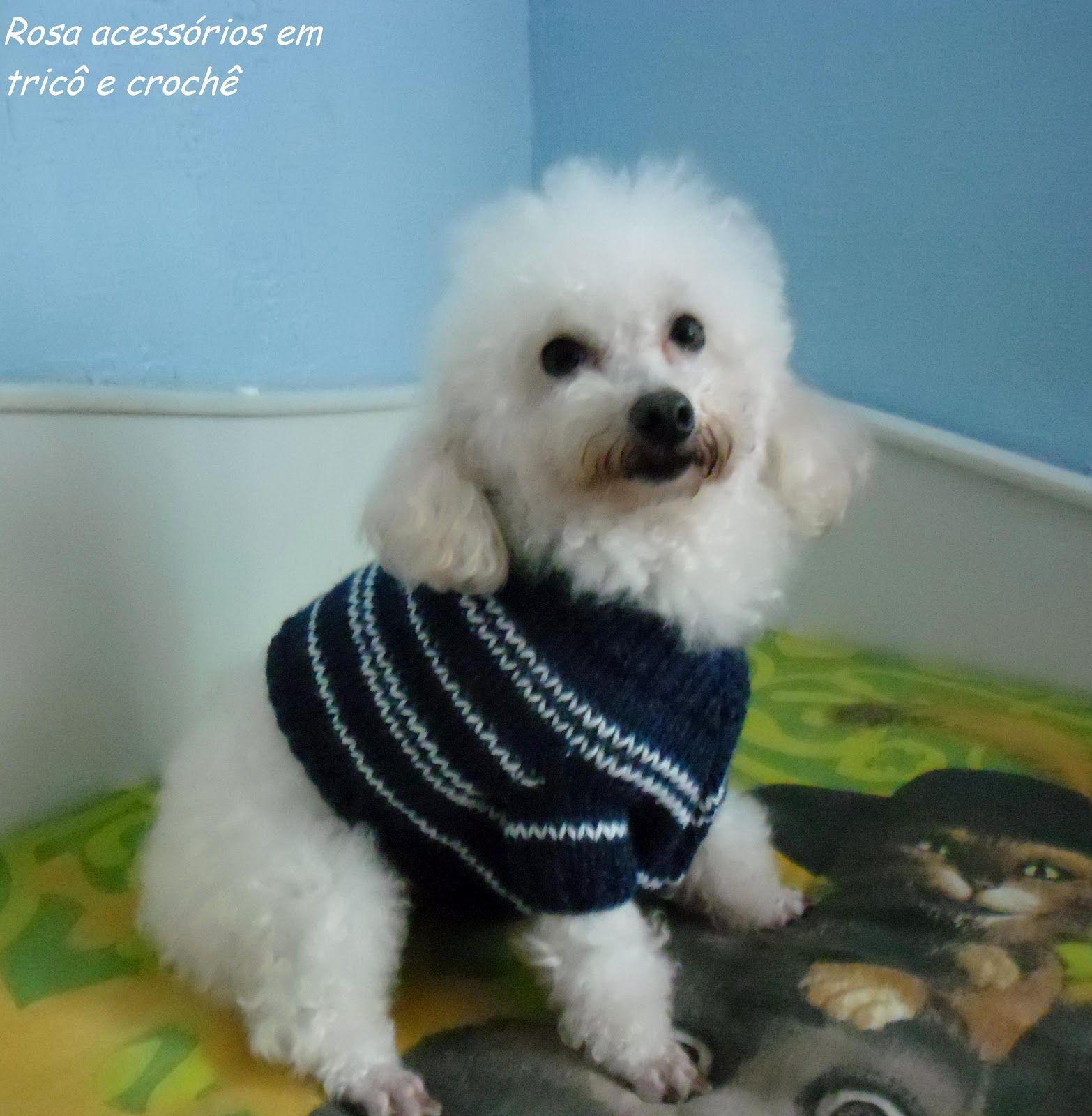 Rosa acessórios em tricô & crochê: Blusinha para cachorro | roupas ...