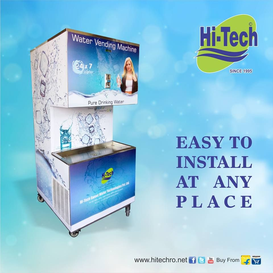 Coin Operated Water Vending Machine For Railway Station  #watervendingmachine