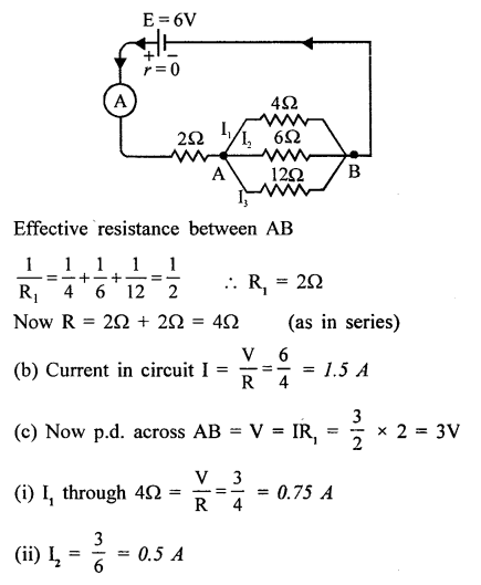 A New Approach To Icse Physics Part 2 Class 10 Solutions Electric Circuits Resistance Ohm S Law Electric Circuit Ohms Law Circuit