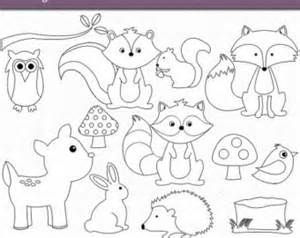 Woodland Baby Animals Coloring Pages
