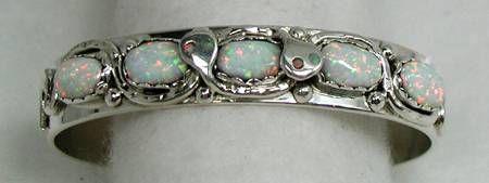 Effie C Zuni snake bracelet opals;; want want want it
