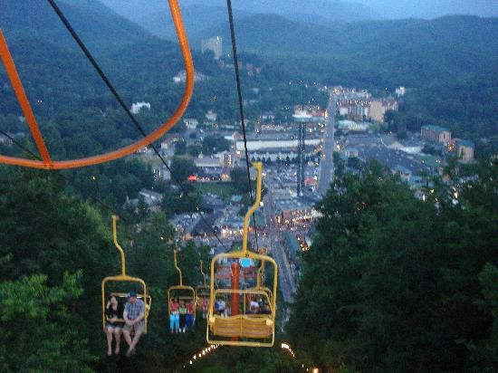 Ride On The Gatlinburg Chair Lift And See The Amazing Views From The Top Of  The
