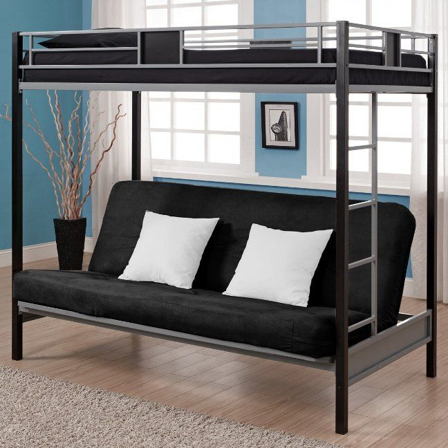 Futon Bunk Beds For Adults Loft Bed With Couch Metal Bunk Beds
