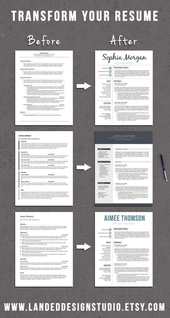 Stand out from the crowd with our simple and clean resume template - making your resume stand out