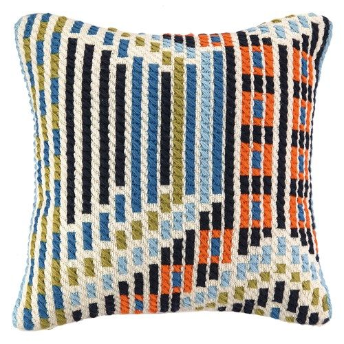 Trina Turk Madera Blue Bargello Pillow - website Zincdoor.com