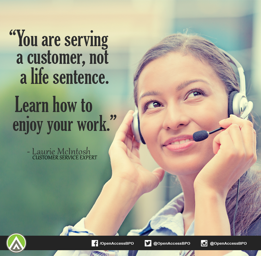 Work in the #CustomerService industry can really be challenging and tiring, but it can also be fulfilling.