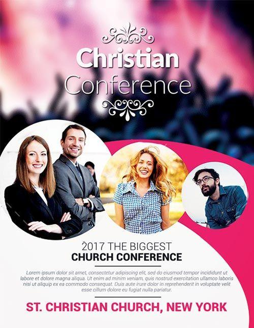 Christian conference church psd flyer template http freepsdflyercom christian conference for Free church flyer psd