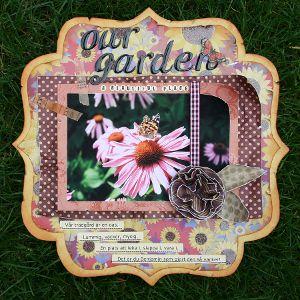 Our Garden Scrapbook Layout