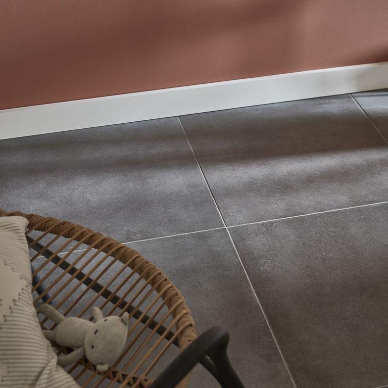 Carrelage Gres Cerame Emaille Konkrete Anthracite Carrelage Carrelage Sol Interieur Carrelage Gris Anthracite