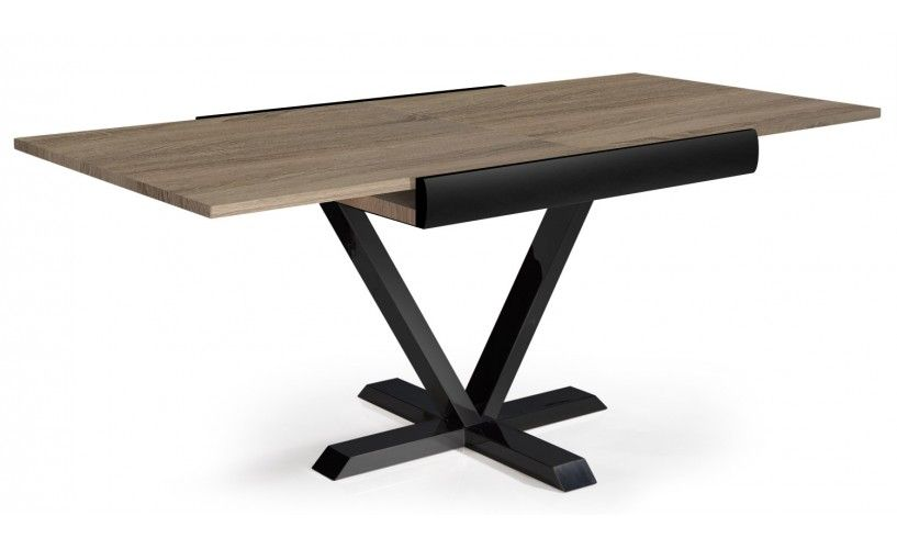 Table Newick Chene Clair Table A Manger Extensible Table Modulable Table De Salle A Manger Extensible