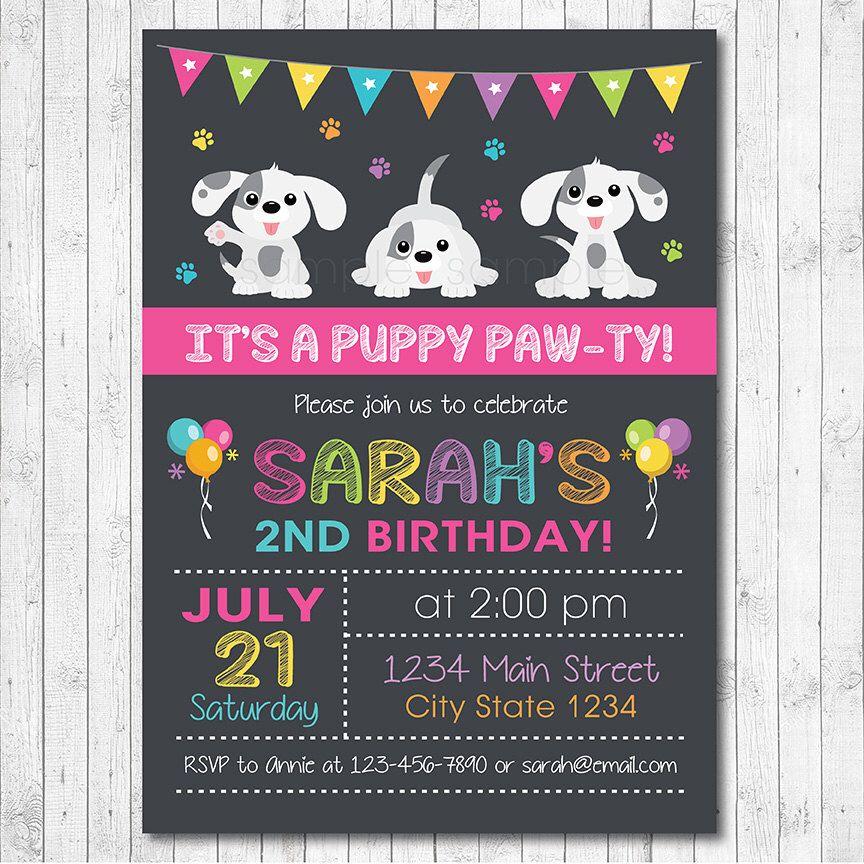 Puppy birthday invitation puppy invite puppy birthday puppies puppy birthday invitation puppy invite puppy birthday puppies invitation little dog invitation filmwisefo