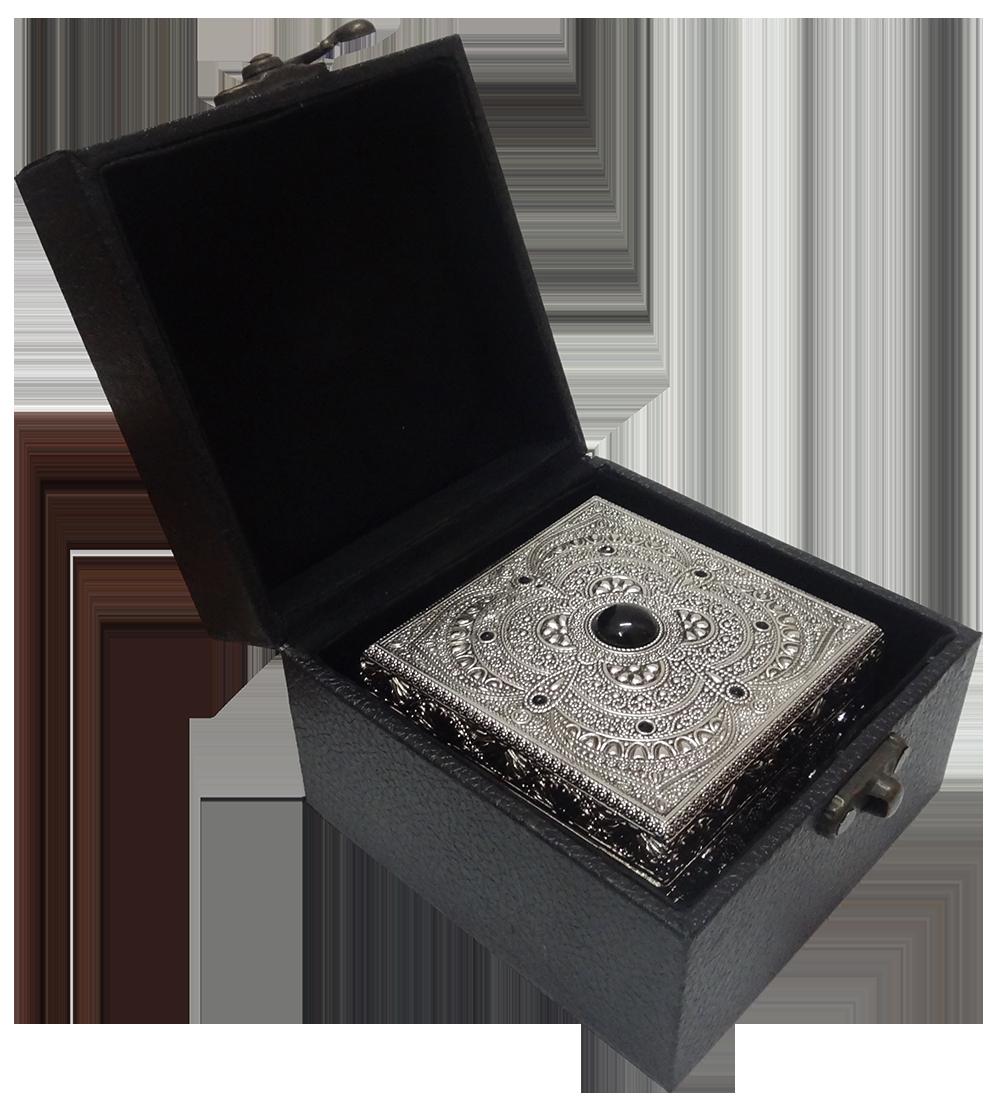 Jewelry Box with BlackStones Filigree WorkJewellery Storage Box