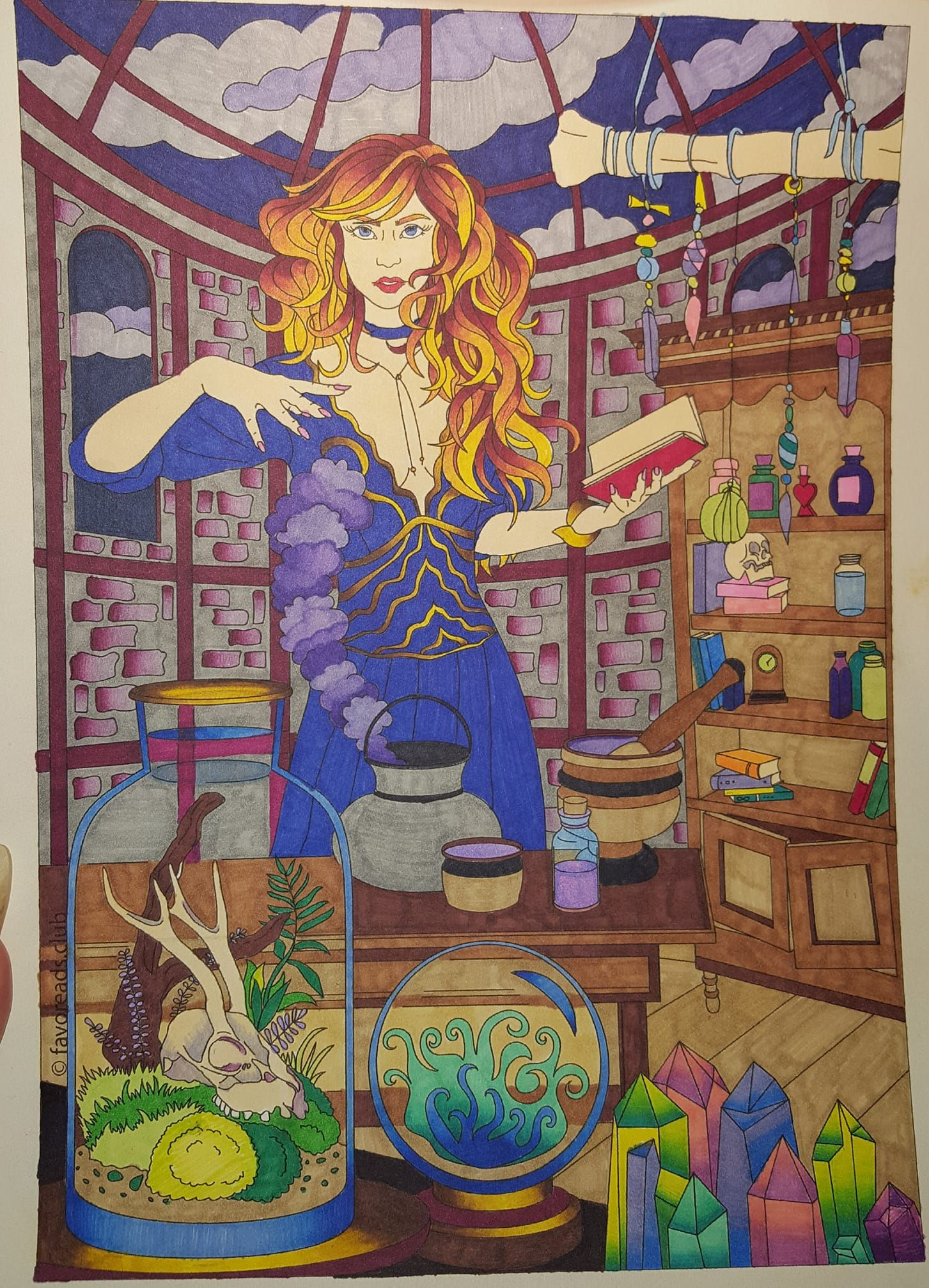 Fantasia u witch favoreads coloring submissions pinterest