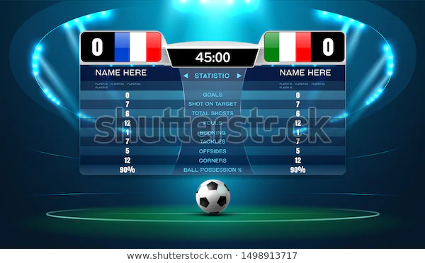 Soccer Football Stadium Spotlight And Scoreboard Background With Glitter Light Vector Illustration Football Stadiums Soccer Scores Stadium
