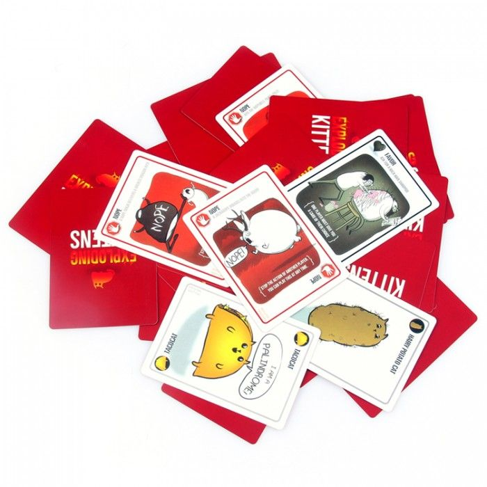 Exploding Kittens Is A Card Game For People Who Are Into Kittens And Explosions And Laser Beams And Sometimes Goats Exploding Kittens Card Games Taco Cat