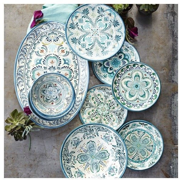 Veracruz Blue Melamine Serving Bowl 24 Liked On Polyvore