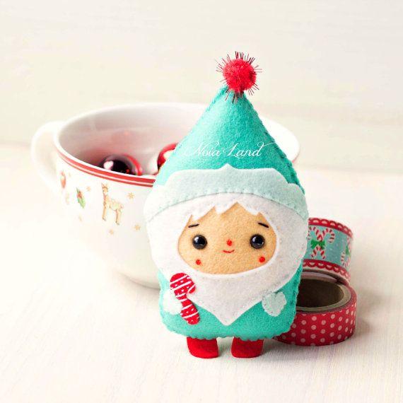 PDF Pattern. Christmas Santa & Elf ornaments pattern | Pinterest ...