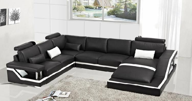 Black And White Sectional Furniture Design Living Room