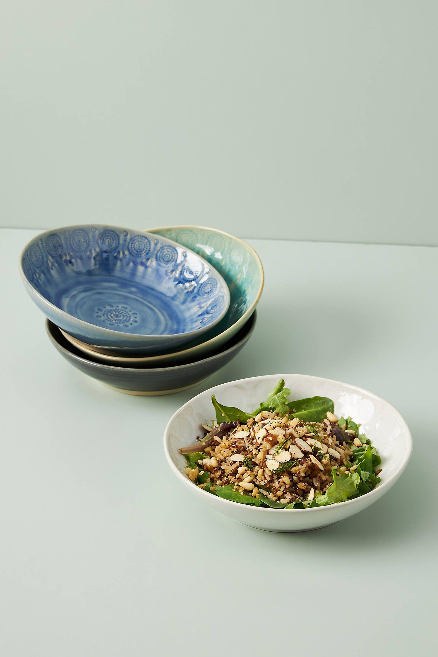 Old Havana Grain Bowls, Set of 4 by Anthropologie in Grey, Bowls