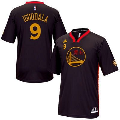 NBA Golden State Warriors Monkey Year Andre Iguodala Chinese New Year 2016  jersey black 0d390989c