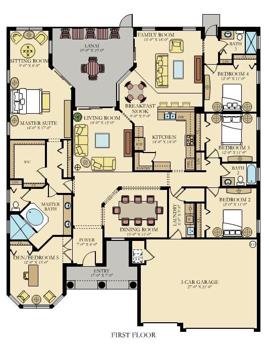 Sawgrass New Home Plan In Gran Paradiso Estate Homes New House Plans Floor Plans House Blueprints