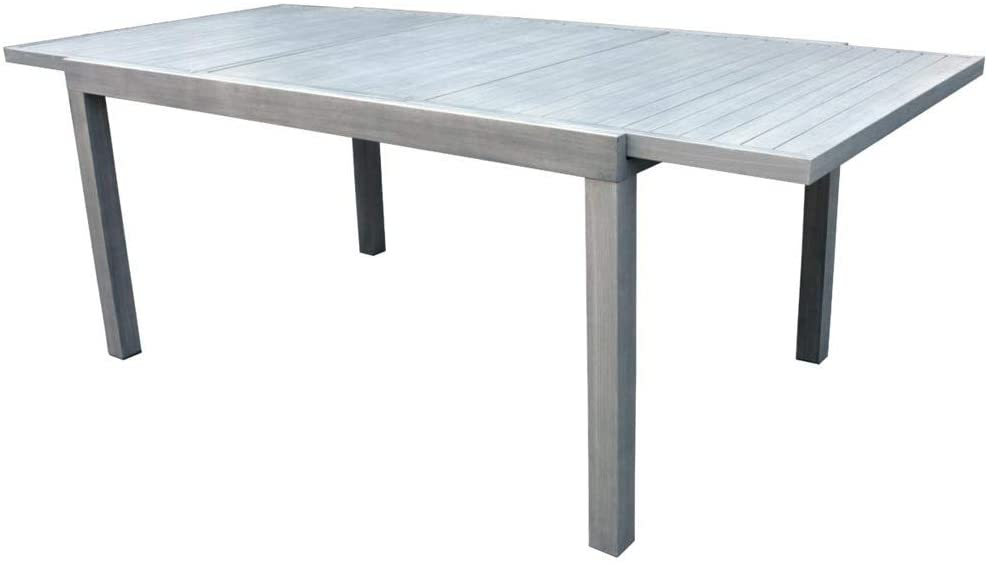 Tavolo Giardino Alluminio Allungabile.Moia S P A Tavolo Da Giardino Allungabile In Alluminio Chiaro