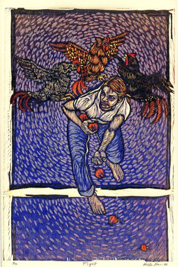 Kirsten Francis Amazing Color Reduction Woodcut Printmaker So Many Layers Of Much Rich Combined With Personal Symbolism