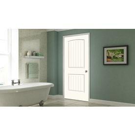 Jeld wen santa fe moonglow panel round top plank single prehung interior door common in  actual  also rh pinterest