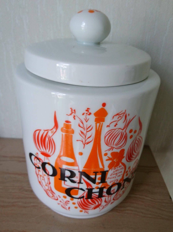 Vintage French Porcelain Cornichons Jar, French Porcelain Pickle Jar ...