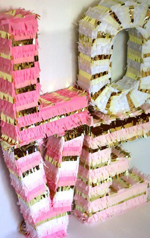 LOVE piñata letters