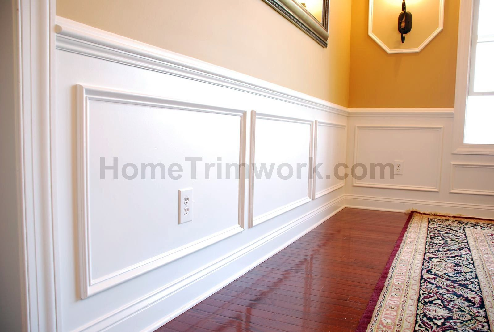 Wall panel frame molding for the home pinterest for Dining room molding panels
