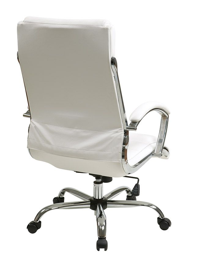 Bassett Ellis Executive Chair Best For Sewing Room Inspired By Chrome In White Product No Bp Elcx U11