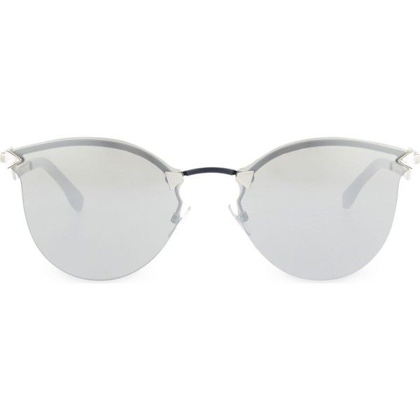 53c06ef2f2 FENDI FF0039 mirrored round sunglasses ( 430) ❤ liked on Polyvore featuring  accessories