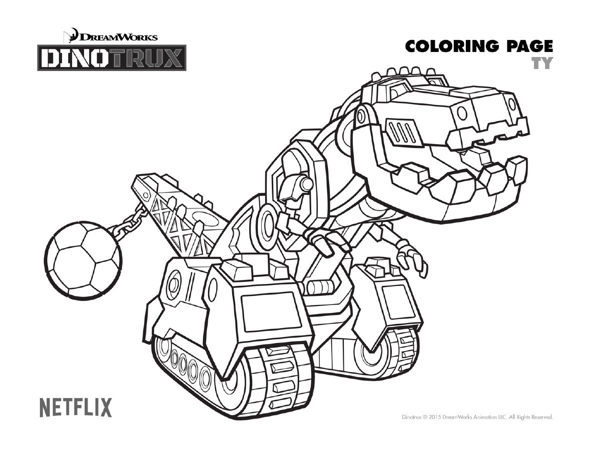 Coloring Sheet Dinotrux Coloring Pages Rescue Bots Color