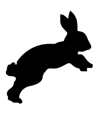 Items similar to rabbit silhouette bunny digital stamp hare no background 300 dpi on Etsy