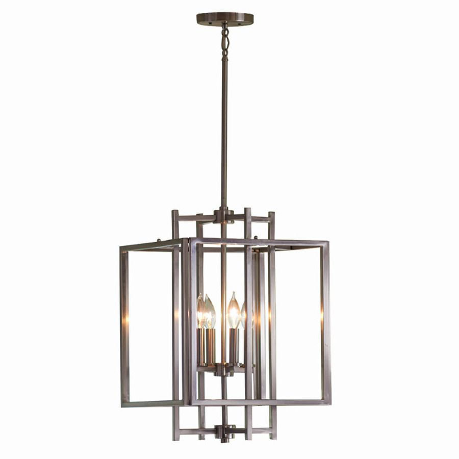 Shop Allen Roth 14 In W Brushed Nickel Pendant Light With
