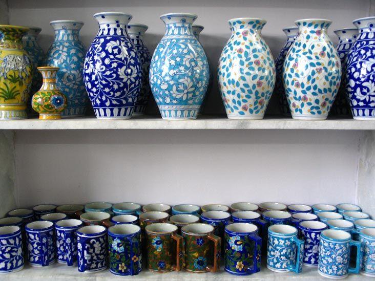 Jaipur Blue Pottery Art Centre Near Jain Mandir Amer Road Jaipur Rajasthan India Blue Pottery Pottery Art Blue Pottery Jaipur