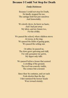 emily dickinson death poem