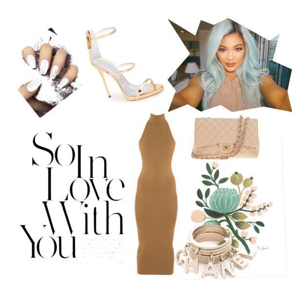 Expired by Kylie Jenner by vanessajimenez-i on Polyvore featuring polyvore, fashion, style, Torn by Ronny Kobo, Giuseppe Zanotti, Chanel, Rifle Paper Co, simple, classy and KylieJenner