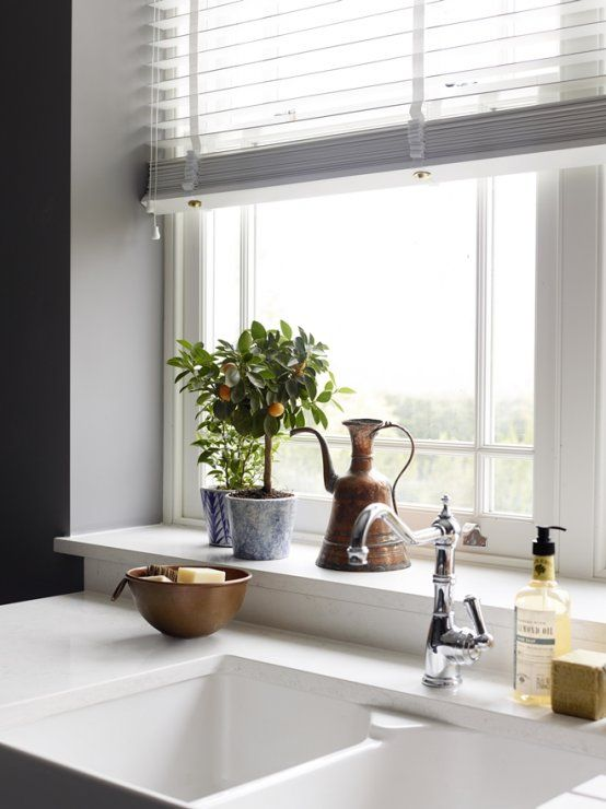 wide window sill by sink kitchen window design kitchen window sill window sill decor on kitchen interior with window id=37279