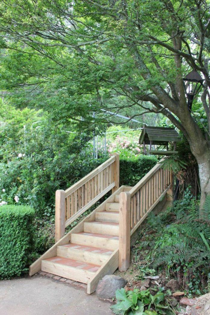 Gartentreppe Holz – Gartenideen mit Treppen | Pinterest ...