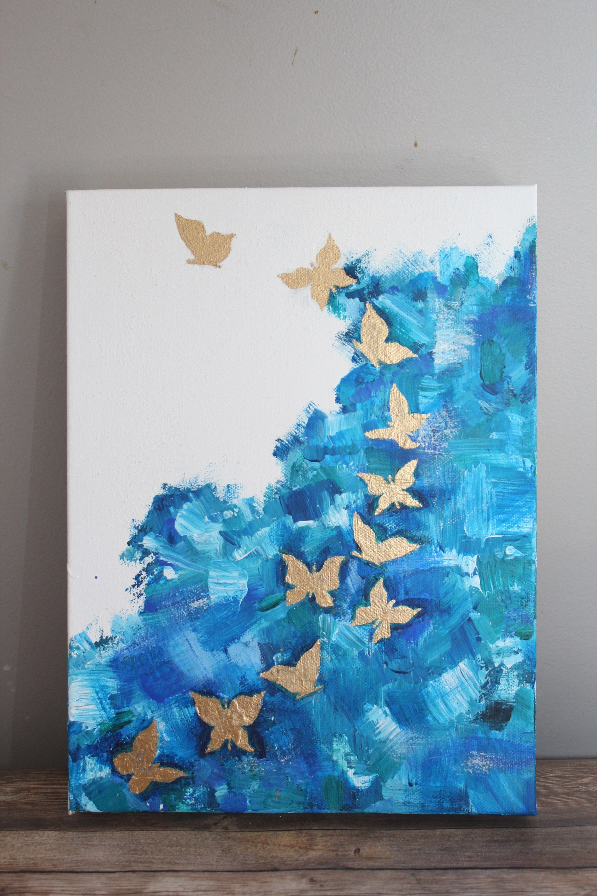 How to Paint a Butterfly - Abstract Acrylic Painting For ...