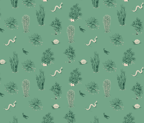 succulents_sage fabric by se_kyoung on Spoonflower - custom fabric