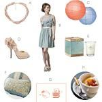 Southern Inspiration: Soft Peach and Blue « Southern Weddings Magazine
