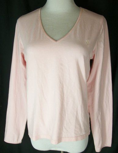 Pink Stretchy Ralph Lauren Blue Label women's top